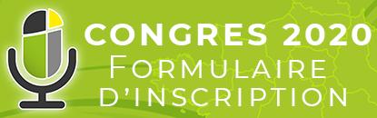 Formulaire d'inscription au congrès 2020